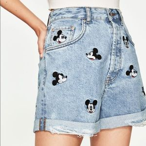 Mickey Mouse Denim Shorts